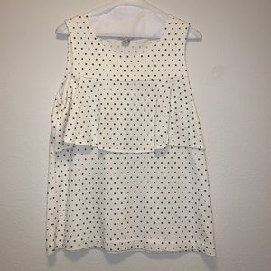 Polka Dot Layered J. Crew Tank